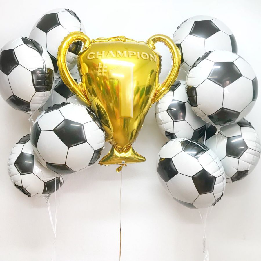 Букет из гелиевых шаров Футбольные мячи