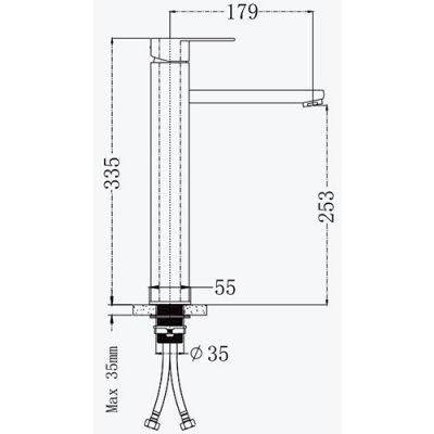 Смеситель для раковины Frap F10805-2