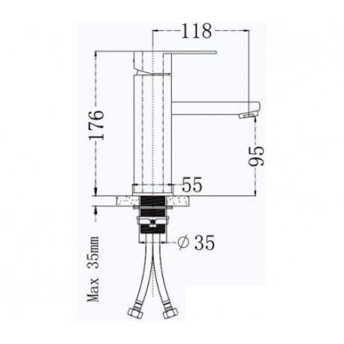 Смеситель для раковины Frap F10805