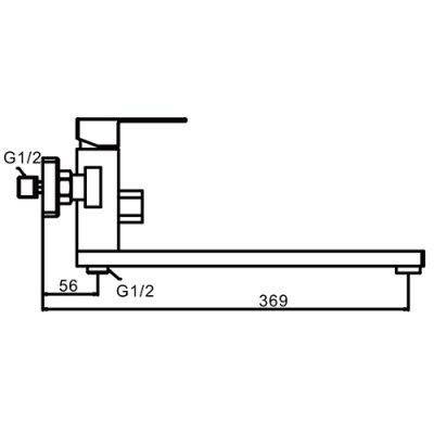 Frap F22802 Смеситель для ванны