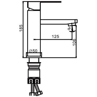 Смеситель для раковины Frap F10802