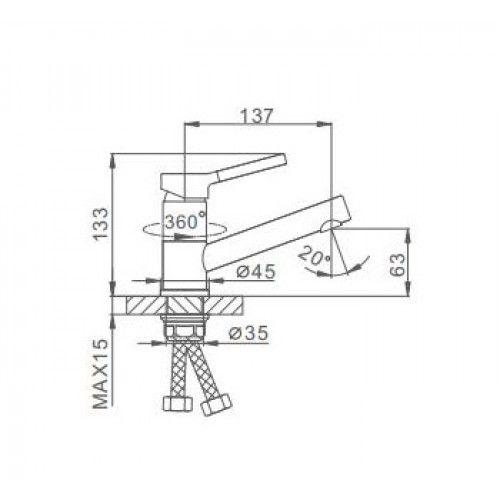 Смеситель для раковины Frap H44-8 F4544-8