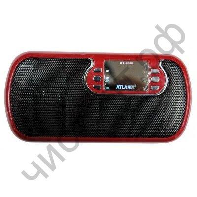 Колонка универс.с радио AT-6526  1 динам. с сабвуфером ( USB+SD+ аккум. )