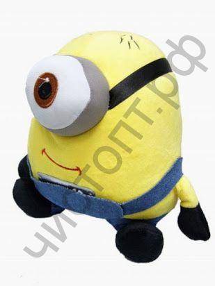 Колонка универс.с радио DG-107 Миньон (TF,USB, 2*3W,FM,аккум встр, AUX,ДУ) мягкая игрушка Распродажа !!!