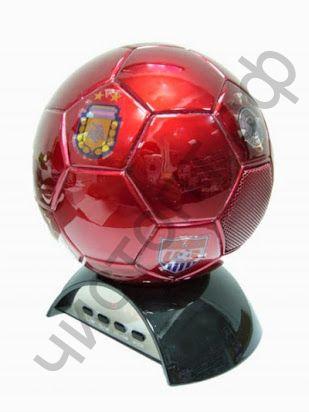 Колонка универс.с радио HX-398 Мяч (TF,USB,3W,FM,аккум.BL-5С) ОР Распродажа !!!