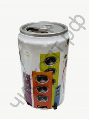 Колонка универс.с радио MS-303 Банка (3W, USB, TF, FM, аккум) ОР