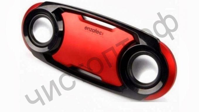 Портативная колонка Enzatec SP509RE красный, SD/USB,FM-радио,  стерео, вход 3,5  (SP509RE