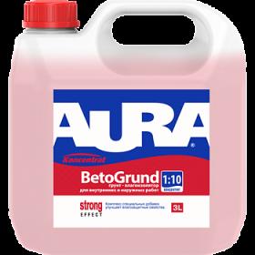 Грунт-Влагоизолятор Aura 10л Koncentrat Beto Grund для Внутренних и Наружных Работ Концентрат