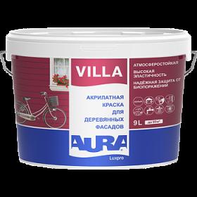 Акрилатная Краска Aura 9л Luxpro Villa для Деревянных Фасадов