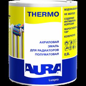Эмаль для Радиаторов Aura Luxpro Thermo 0.9л Акриловая без Запаха