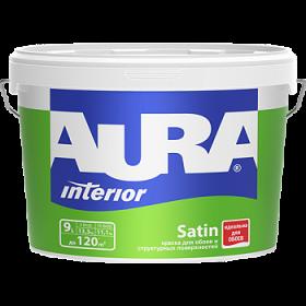 Краска Aura 9л Interior Satin для Обоев и Структурных Поверхностей