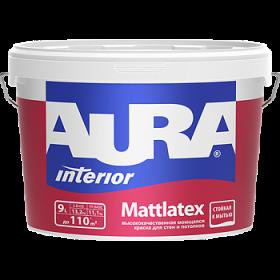Высококачественная Моющаяся Краска Aura 9л Interior Mattlatex для Стен и Потолков