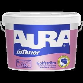 Особопрочная Краска Aura 9л Interior Golfstr?m для Ванной и Кухни