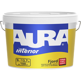 Влагостойкая Краска Aura 4.5л Interior Fjord для Стен и Потолков