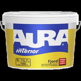 Влагостойкая Краска Aura 0.9л Interior Fjord для Стен и Потолков