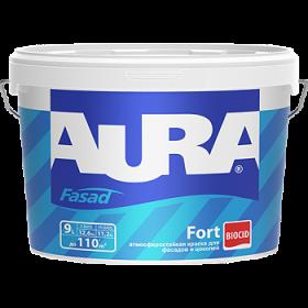 Атмосферостойкая Краска Aura 2.7л Fasad Fort Матовая для Фасадов и Цоколей
