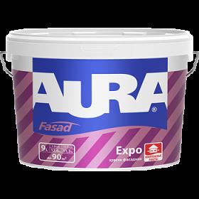 Краска Фасадная Водно-Дисперсионная Aura 9л Fasad Expo Матовая для Фасадов и Помещений с Нормальной Влажностью