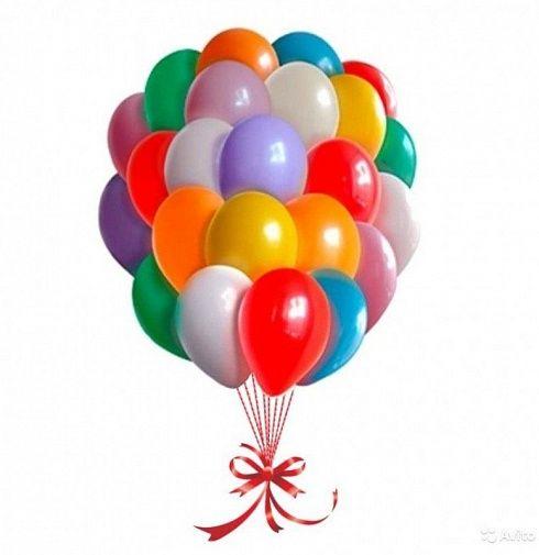 Облако из воздушных шаров Микс цветов 25 шаров