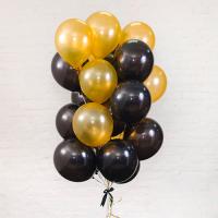 Облако из гелиевых шаров золото  чёрные