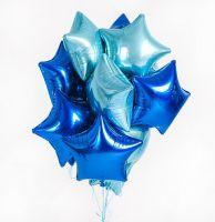 Облако из гелиевых шаров Синяя звезда