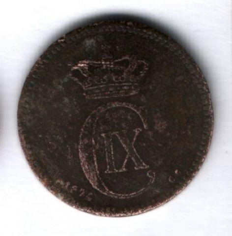 5 эре 1874 года Дания VF-