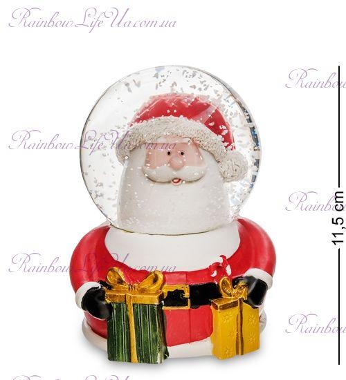 "Шар со снегом муз. с подсветкой ""Санта с подарками"""