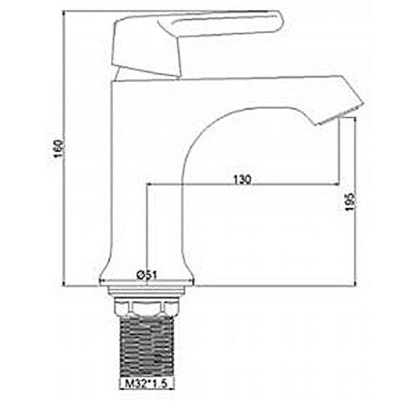 Смеситель для раковины FRAP H31 F1031