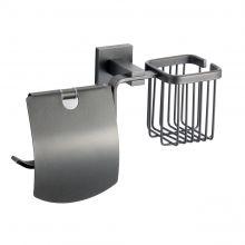 Держатель для туалетной бумаги и освежителя Savol S-L06551Q графит