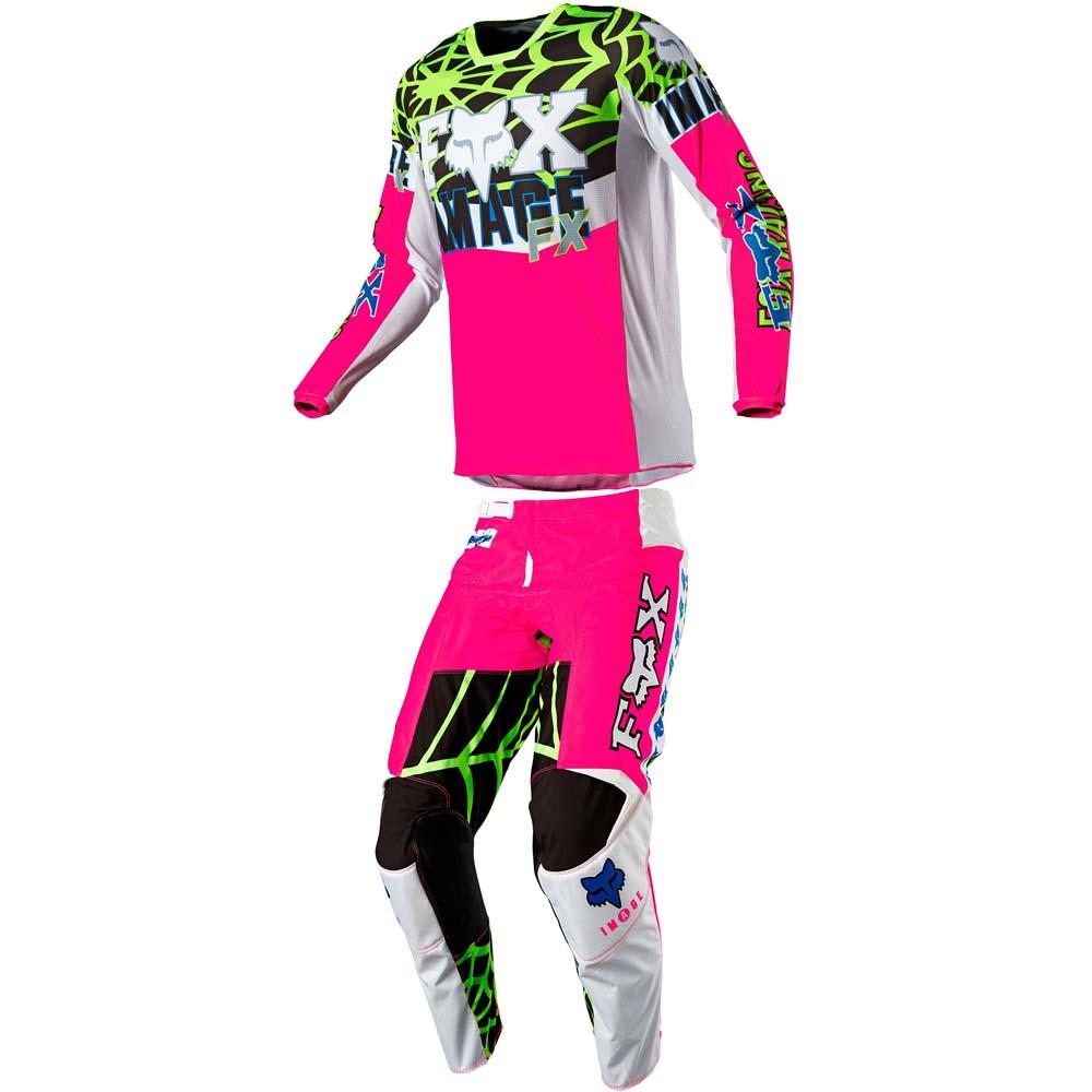 Fox 2021 180 Heritage Venin Pink LE джерси и штаны для мотокросса