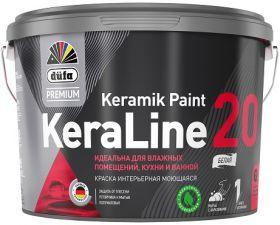 Краска для Кухни и Ванной Dufa Premium KeraLine 20 Keramik Paint 2.5л Полуматовая / Дюфа Премиум Кералайн 20 Керамик Пейнт
