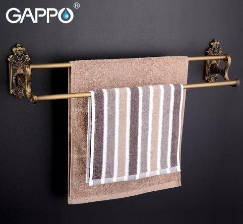Двойной полотенцедержатель Gappo G3609 Бронза