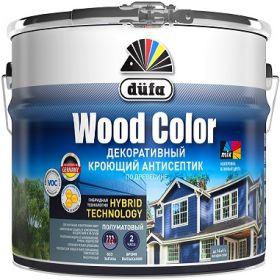 Декоративный Кроющий Антисептик Dufa Wood Color 9л по Древесине, Полуматовый для Внутренних и Наружных Работ / Дюфа Вуд Колор