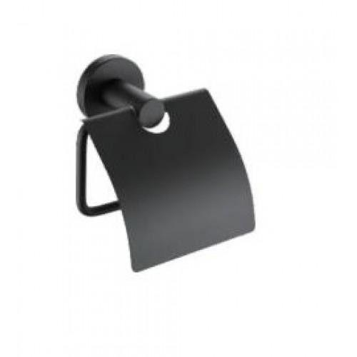 Черный держатель туалетной бумаги Frap F30203