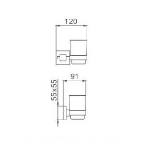 Стакан для зубных щеток Frap F30306 Квадрат