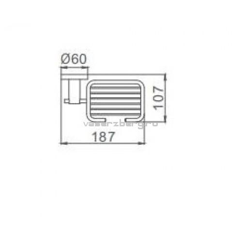 Черная мыльница настенная Frap F30202-1