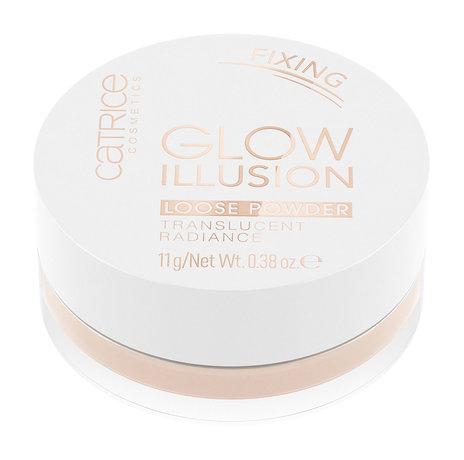 Сияющая рассыпчатая пудра для лица Glow Illusion Loose Powder Catrice