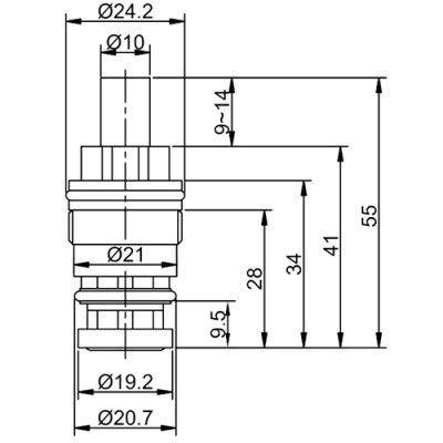Кран-букса для кнопочного нажимного переключателя Frap F52-11