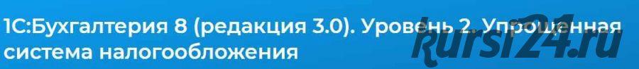 1С:Бухгалтерия 8 (редакция 3.0). Уровень 2. Упрощенная система налогообложения (Людмила Ганжа)