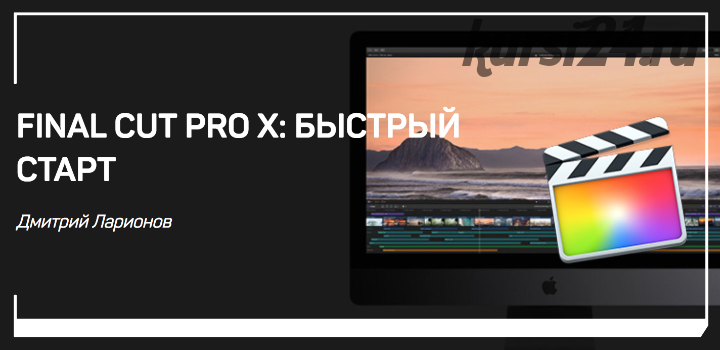 Final Cut Pro X: Быстрый старт (Дмитрий Ларионов)