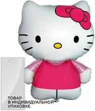 Шар (26''/66 см) Фигура, Hello Kitty, Розовый, 1 шт. в упак.