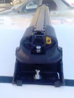 Багажник на крышу Mazda CX-9 2006-16, Turtle Air 3, аэродинамические дуги в штатные места (черный цвет)