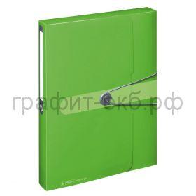Папка-бокс А4 4см Herlitz Easy orga зеленая11206133