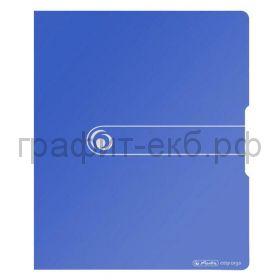 Папка А4 2,5см 2к.Herlitz Easy orga синяя 11217171