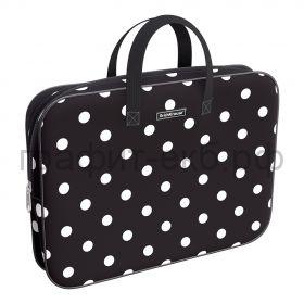 Портфель А4+ ErichKrause ткань Dots in Black черный 52663