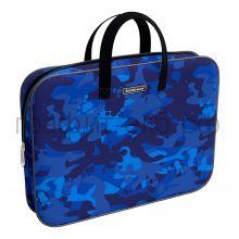 Портфель А4+ ErichKrause ткань Sea Camo синий 52656
