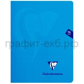 Тетрадь А4 48л.кл.Clairefontaine Mimesys синяя ластик.обложка 132162С_blue