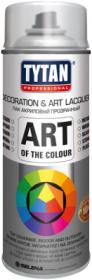 Лак Аэрозольный Tytan Professional Art of the Colour 400мл Акриловый, Универсальный, Глянцевый, Матовый / Титан Лак