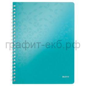Тетрадь А4 80л.кл.Leitz WOW бирюзовая 46380051
