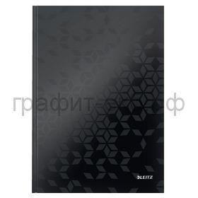 Тетрадь А4 80л.кл.Leitz WOW твердая обложка черный 46261095