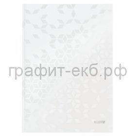 Тетрадь А4 80л.кл.Leitz WOW твердая обложка белый 46261001